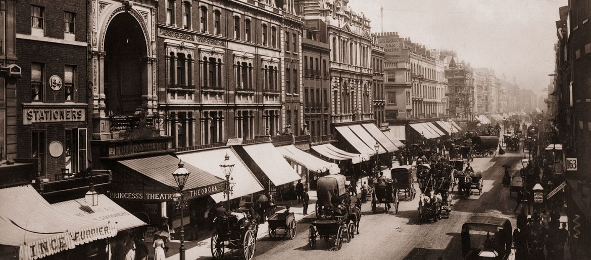 Old Bond Street in London in 1919